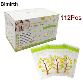 112Pcs 235ml Baby Breast Milk Storage Bags Leak Proof Sterilized Baby Food Safe