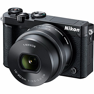 New Nikon 1 J5 Mirrorless Digital Camera with 10-30mm Lens - Black