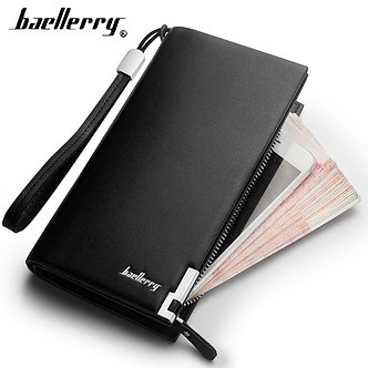 Baellerry Men Wallets Classic Long Style Card Holder Male Purse Quality PU