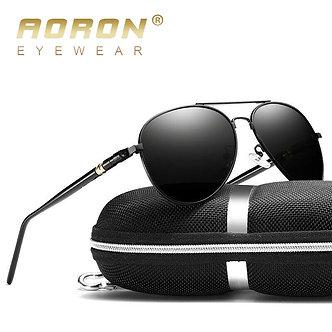 AORON Men Polarized Sunglasses Retro Classic Pilot Glasses Brand Goggoles
