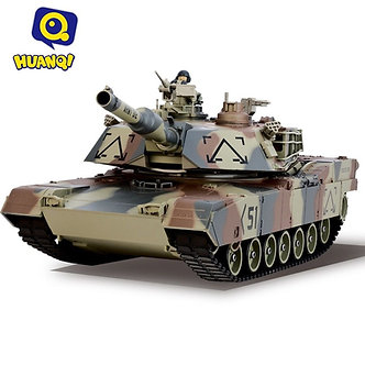 US STOCK HUANQI 781 RC Tank USA Airsoft Battle Tank Toy Military Battle Vechile