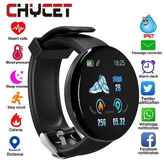 2019 Bluetooth Smart Watch Men Blood Pressure Round Smartwatch Women Watch