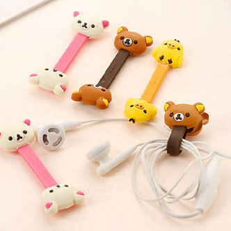 3 Pcs Cute Cartoon Mobile Phone USB Cable Cable Winder Cable Control Cable