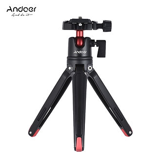 Andoer Mini Handheld Travel Tabletop Tripod Stand  With Ball Head for Canon