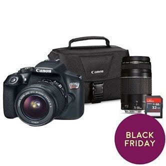 Canon Rebel T6 18MP DSLR Camera with EF-S18-55mm IS/EF75-300 III(1159C033)