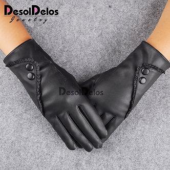 2019 Fashion Women Christmas Gloves Warm Lady Soft Leather Gloves Winter Warm