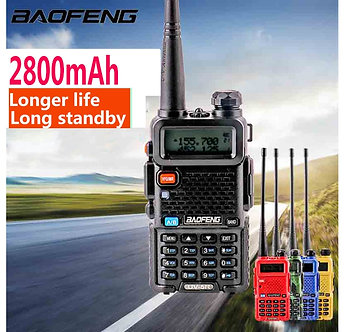 2021 Baofeng UV-5r Walk Talk 2800MAH Baufeng 5w Walkie Talkie 10 Km Vhf Uhf