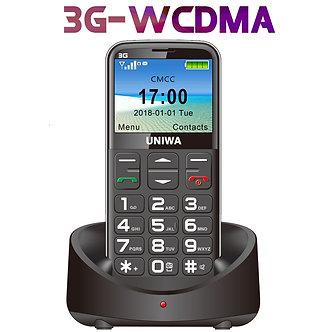 3G WCDMA Russian Keyboard Mobile Phone 2.31 Inch Gsm 1400mAh Push-Button SOS FM