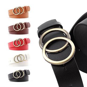 2020 Luxury Fashion New Round Buckle Belt Women Casual Belt Ladies Jeans