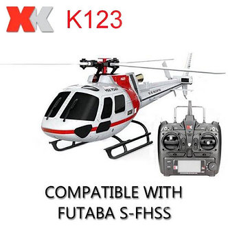 XK K123 2.4GHz 6CH 3-Blade RC Helicopter Aircraft RTF 3D 6G System Headless Mod