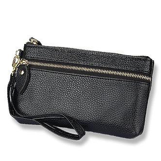 2018 Fashion Genuine Leather New  Women Clutch Bags Wallets Wristlet  Zipper