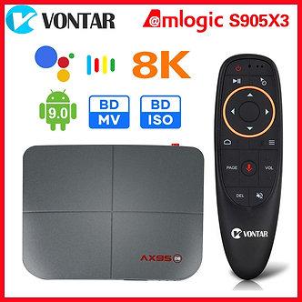 AX95 DB Smart TV Box Android 9 AX95db 8K Max 4GB RAM 128GB Amlogic S905X3