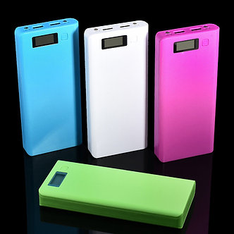 300000mAh Dual USB Battery Charger Box 8x18650 Power Bank Case DIY For Phone