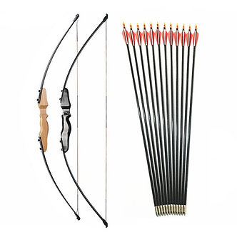 30-40lbs Straight Bow Split 51 Inches  and Fiberglass Arrow