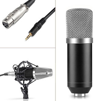 Professional Condenser Mic Microphone Studio Sound Recording With Arm Stand Set
