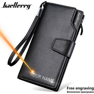 Baellerry Men Wallets Long Style High Quality Card Holder Male Purse Zipper