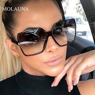 2021 Luxury Oversize Square Sunglasses Women Vintage Brand Big Frame Women Sun