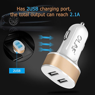 5V 2.1A Dual Port USB Car Charger Adapter For iPhone Samsung HTC Universal+Cable