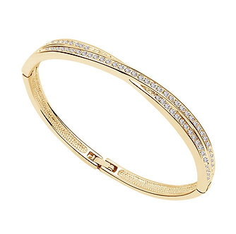 AAAA+ Rhinestones Circle Cuff X Bracelet Bangle Fashion Jewelry Dropshipping
