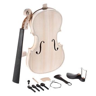 4/4 Full Size Violin DIY Kit Natural Solid Wood Acoustic Violin Fiddle Kit