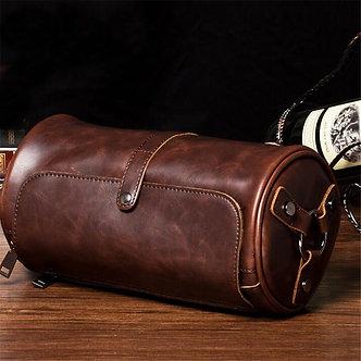 2020 Hot Sale New Fashion Men's Crazy Horse Leathe Shoulder Bag Cylindrical