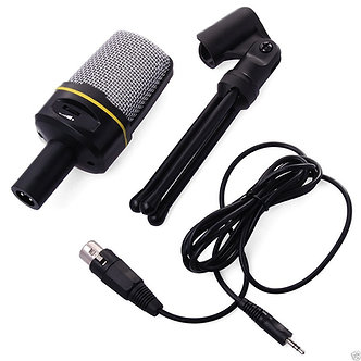 SF-920 Condenser Microphone Studio Recording Mic & Tripod Stand For Youtube MSN