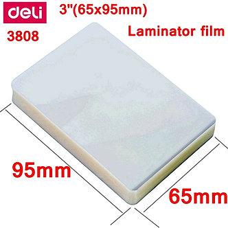 "1 BAG 100pcs/Lot Deli 3808 Thermal Laminating Film 3""(65x95mm) Size 70 Mic"