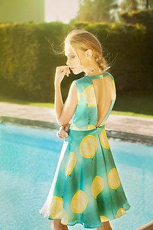 Bamboo Silk Digitally Printed Open Back Dress