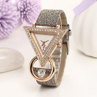 1PCs Rhinestone Fashion Casual Bracelet Watch Women High-End Blue Glass Life