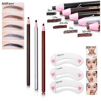AddFavor Eyebrow Beauty Makeup Set Eyebrow Pencil Eyebrow Drawing Stencil Mold