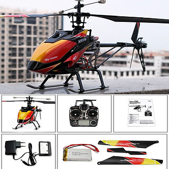 RED WLtoys V913 Single Propeller RC Helicopter 2.4GHz 4CH Transmitter Aircraft