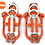 Thumbnail: 18 Teeth Climbing Crampons for Outdoor Winter Walk Ice Fishing Snow Shoes