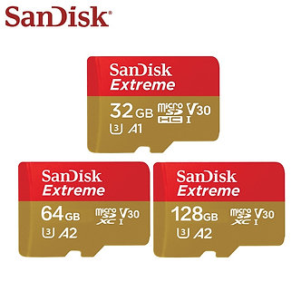 100% Original SanDisk U3 A1 Class 10 32GB Micro SD Card 100mb/S 128GB 64GB A2