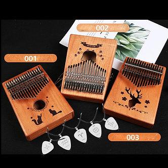 17 Keys Kalimba Thumb Piano Solid Mahogany Body Finger Music Instrument Birthday