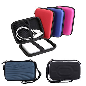 2.5in HDD Bag Hard Drive Disk Case Zipper Pouch Earphone External Protector