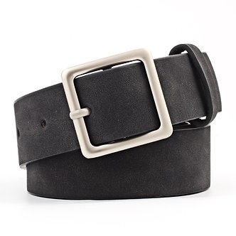 2020 New Designer Black Red White Wide Leather Belt Waistband Female Vintage