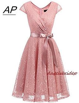 ANGELSBRIDEP Sexy Sweetheart Mini Homecoming Dress Chiffon Short Special
