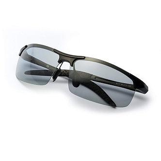 2019 Photochromic Polarized Semi-Rimless Sunglasses Driver Rider Sports Goggle