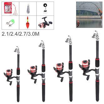 2.1m 2.4m 2.7m 3m Fishing Rod Reel Line Combo Full Kits Spinning Reel Pole