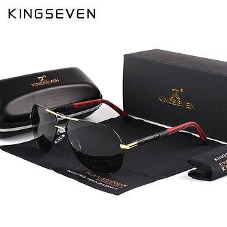 KINGSEVEN Men Vintage Aluminum Polarized Sunglasses Classic Brand Sun Glasses