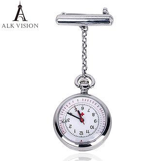 ALK Fob Nurse Pocket Watch Date Brand Quartz Watches Time Calendar Japenese