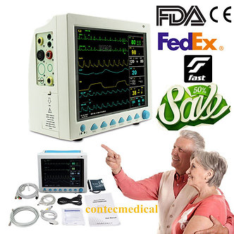 FDA-CMS8000-Vital-Signs-ICU-Monitor-6-parameter-Patient-Monitor-OPTIONAL-CO2-USA