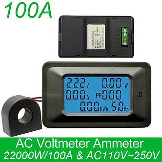 AC 20a/100a Digital Voltage Meters Indicator Power Energy Voltmeter Ammeter