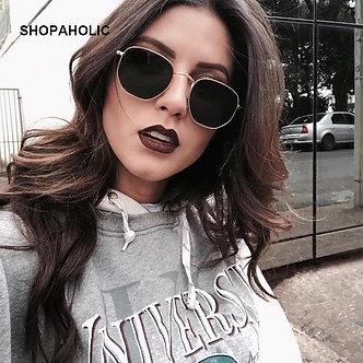 2019 Retro Round Sunglasses Women Brand Designer Sun Glasses for Women Alloy