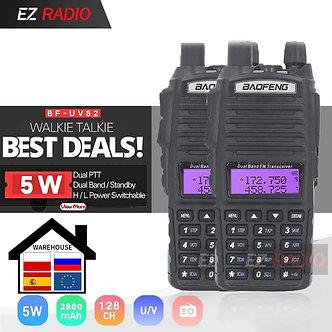 1pc or 2pcs Original Portable Two Way Radio UV 82 Dual PTT Radio BaoFeng UV-82