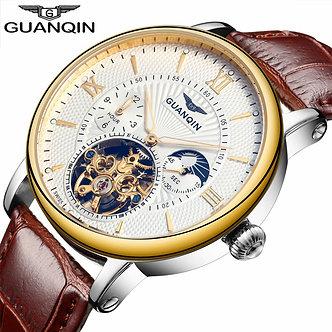 2018 Fashion GUANQIN Mens Watches Top Brand Luxury Skeleton Watch Men Sport
