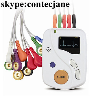 Portable Dynamic ECG Recorder 48h 12 lead Holter TLC6000 OLED+Software, CE