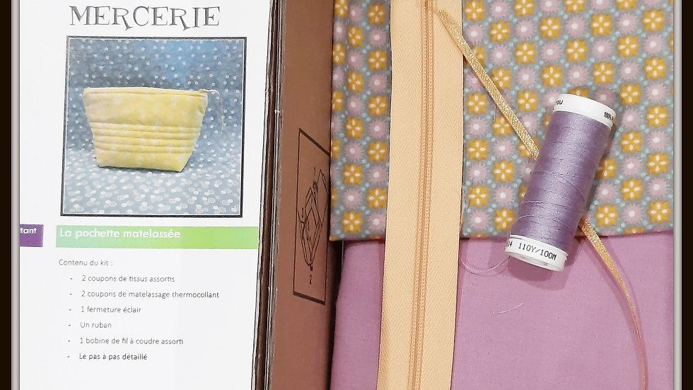 Box trousse matelassée Petit Pan pastel