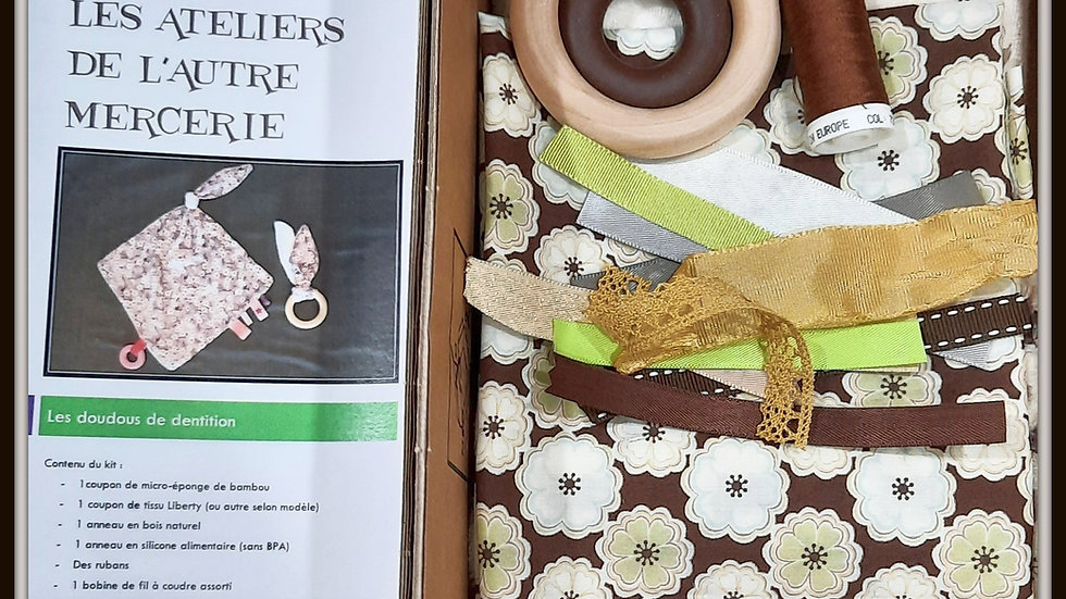 Box doudous à mâchouiller mixteToria chocolat