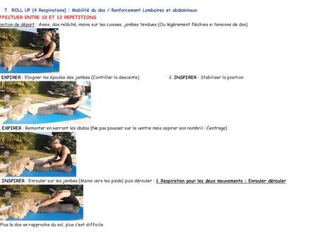 Cours de Pilates N°2, Niveau 2